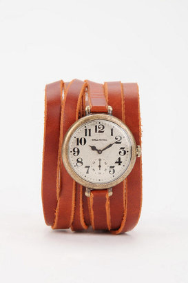 Urban Outfitters TIME By Sonja Nuttall Leather Wrap Watch