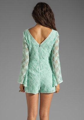 Dolce Vita Seni Crochet Lace Romper
