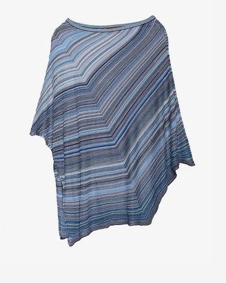 Missoni Metallic Stripe Poncho: Blue