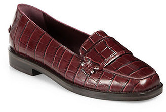 Opening Ceremony Luxor Embossed Leather Loafters