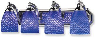 Bed Bath & Beyond ELK Lighting Polished Chrome 4-Light Vanity Fixturewith Sapphire Glass Shades
