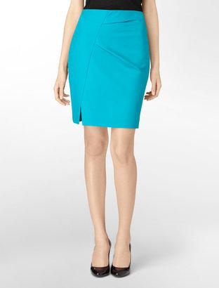 Calvin Klein Asymmetrical Detail Suit Skirt