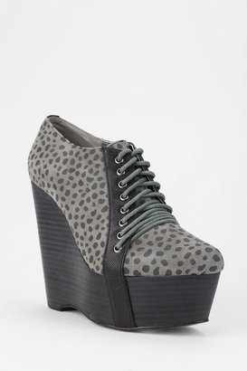 Urban Outfitters Grey City Jennie Lace-Up Platform Wedge
