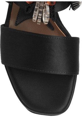 Marni Crystal-embellished satin platform sandals