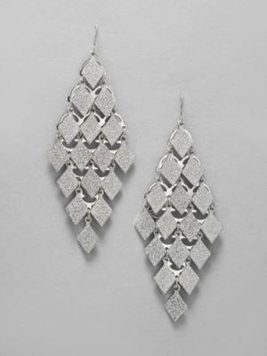 New York & Co. Diamond Design Dangle Earrings