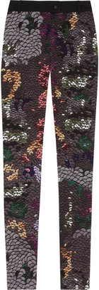 Preen Line Sequin-print stretch-cotton drill pants