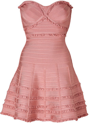 Herve Leger Dress in Blush Powder