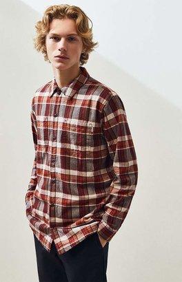 rhythm Woodsman Sherpa Plaid Flannel Shirt