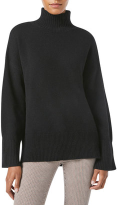 Frame High-Low Turtleneck Sweater