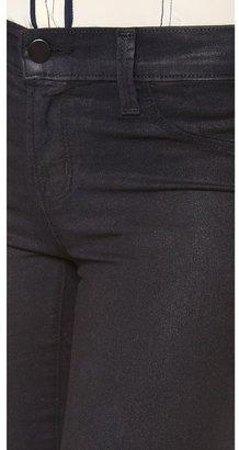 J Brand 801 Coated Mid Rise Skinny Jeans
