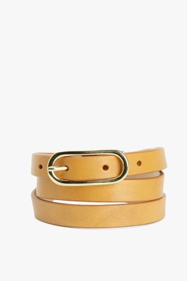 7 For All Mankind Auric Belt In Nude
