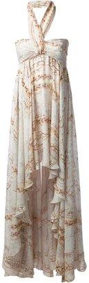 Balmain halter maxi dress
