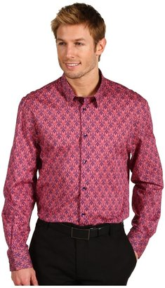 Versace Trend Fit Long Sleeve Button Down (Coral) - Apparel