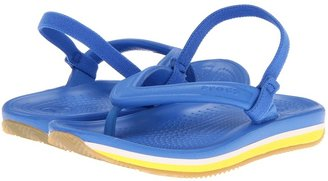 Crocs Retro Flip-Flop (Toddler/Little Kid) (Navy/Red) - Footwear