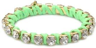 Ettika Lime and Coral Combination Rhinestone Bangle Bracelet