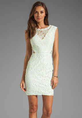 Dolce Vita Trouble Neon Lace Dress