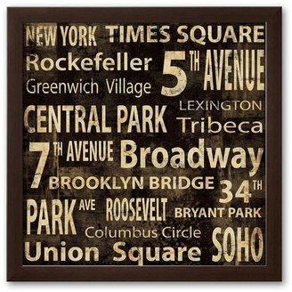"""Wilson Art.com """"new york"""" framed art print by luke"""