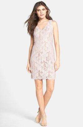 Adrianna Papell Sleeveless Lace Cocktail Dress