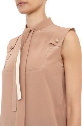 Chloé Sleeveless crepe de Chine blouse