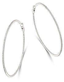Bloomingdale's Diamond Oversized Inside-Out Hoop Earrings in 14K White Gold, 2.0 ct. t.w. - 100% Exclusive