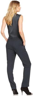 Rachel Roy Jumpsuit, Sleeveless Pocket Straight-Leg
