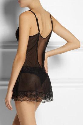 La Perla Calle de la Pasion lace and stretch-mesh chemise