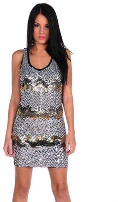 Romeo & Juliet Couture Chevron Sequence Dress
