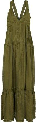 Free People Frankie Army Green Gauze Maxi Dress
