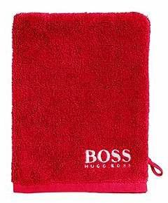 HUGO BOSS Finest Egyptian cotton washing mitt with contrast logo embroidery