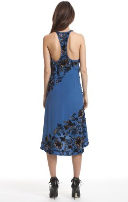 Tracy Reese Floral Beaded Cowl Slip