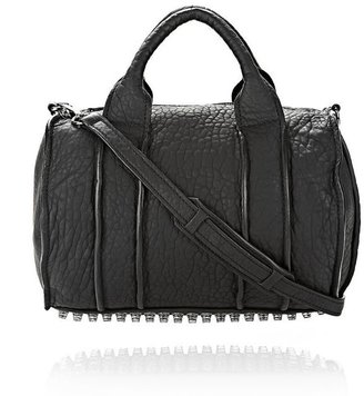 Alexander Wang Inside Out Rocco In Black Rubber Laminated