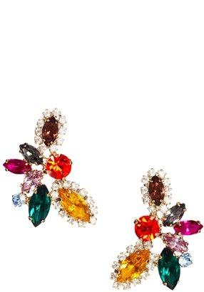 Love Rocks Multicolour Rhinestone Chandelier Earrings