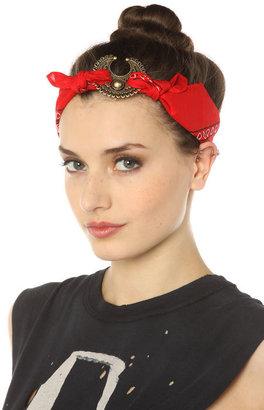 Vanessa Mooney The Mercutio Bandana Headpiece in Red