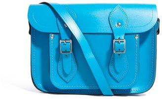 "Cambridge Silversmiths Satchel Company Exclusive to ASOS 11"" Mediterranean Blue Leather Satchel"