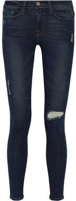 Frame Denim Le Skinny de Jeanne distressed mid-rise skinny jeans