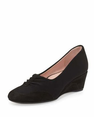 Taryn Rose Ranita Ruched Wedge Pump, Black $229 thestylecure.com