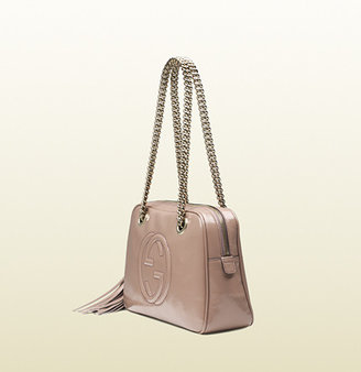 Gucci Soho Soft Patent Leather Chain Shoulder Bag