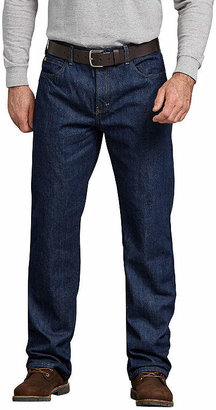 Dickies DickiesRelaxed Straight Fit Flannel-Lined Denim Jeans