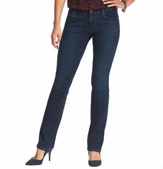 LOFT Distressed Curvy Straight Leg Jeans in Vintage Autumn Wash