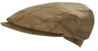 Joules Croftbury Mens Tweed Flat Cap in Green Mr Toad Tweed 229bd97b754
