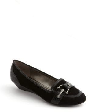 Circa Joan & David Berna Suede & Snake Embossed Leather Loafers
