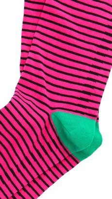 Corgi Bertie Narrow Stripe Socks
