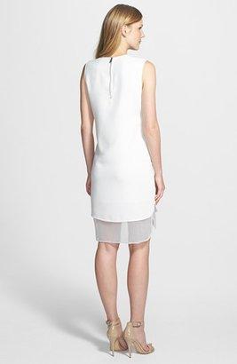 Vince Camuto Organza Trim Sheath Dress (Regular & Petite)