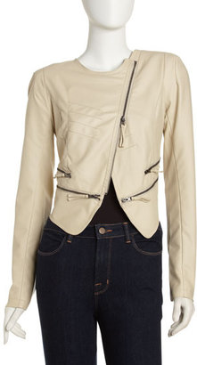 Romeo & Juliet Couture Faux-Leather Zip Jacket