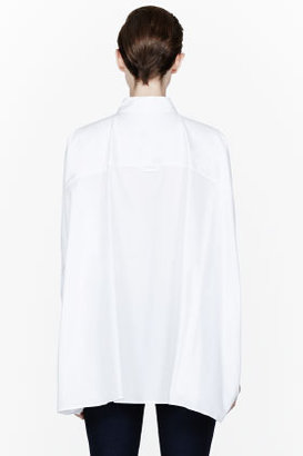 Maison Martin Margiela White Dolman Sleeve Blouse