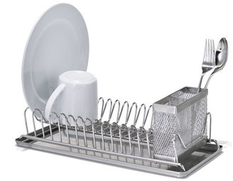 Container Store Compact Dish Rack Stainless Steel