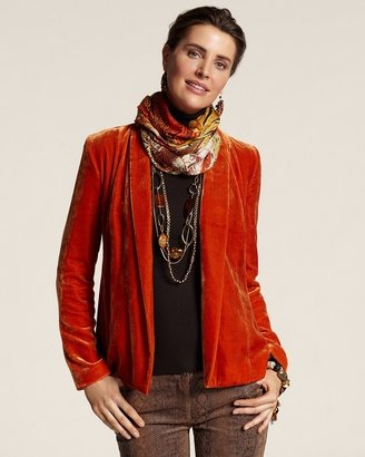 Chico's Velvet Lawanda Jacket