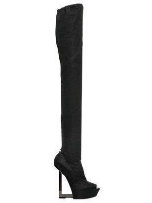 Gareth Pugh 160mm Stretch Leather Platform Boots