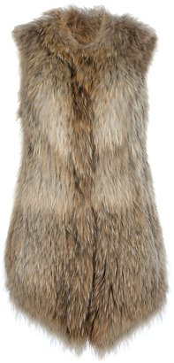 Yves Salomon Meteo By Rabbit fur gilet