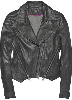 Gar-De Zipped leather biker jacket